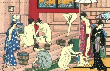 Femmes japonaises au bain